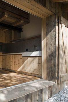 materials Alpine Barn / EXiT architetti associati