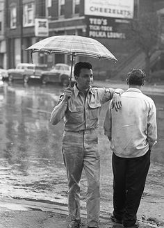Hangin' in the rain - Wicker Park ca.1957