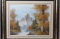 WILLIAM HENRY Fall Landscape Snowcapped Mountain Oil Painting On Canvas Signed  #Realism http://stores.ebay.com/Pontiac-Pickings