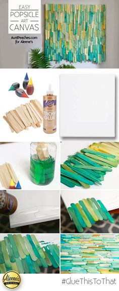 Make this cool DIY popsicle art using dyed popsicle sticks and Aleene& Tack. Make this cool DIY popsicle art using dyed popsicle sticks and Aleene& Tacky Glue with maureen amero Diy Wand, Fun Crafts, Diy And Crafts, Arts And Crafts, Wood Crafts, Resin Crafts, Crafts With Fabric, Simple Crafts, Adult Crafts