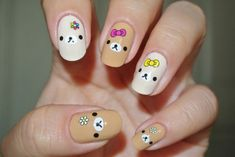 37 Most Valentines Nails Designs Of 2019 - Fashionre Kawaii Nail Art, Cute Nail Art, Cute Nails, Pretty Nails, Nail Designs 2017, Fall Nail Designs, Cute Nail Designs, Asian Nails, Nails For Kids