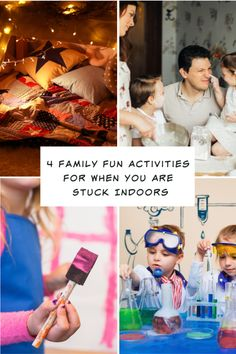 4 Family Fun Activities For When You Are Stuck Indoors - Motherhood Defined Family Movies, Family Games, Family Activities, Games For Kids, Easy Science Experiments, Disney Facts, Family Game Night, School Holidays, Family Traditions