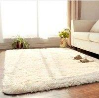 Wish | Living Dining Bedroom Plush Rugs Retangle Anti-skid Carpet Beige