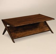 Amish Malaya Mid Century Modern Coffee Table A mid century modern work of art, the Malaya is sure to create interest in your living room. Built in choice of wood and stain. Made in America. #accenttables