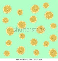 Lemon slice background vector - stock vector