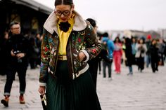 Printed Sherpa Jacket