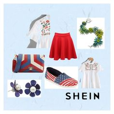 """""""SHEIN"""" by rada-manojlovic ❤ liked on Polyvore featuring Pilot, Anya Hindmarch and TOMS"""
