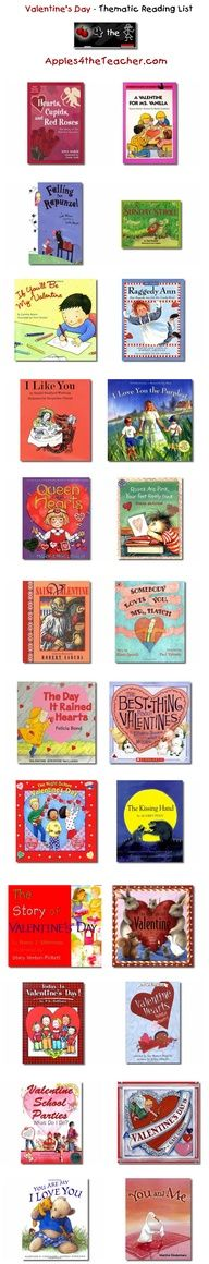 33 best february love your library month images on pinterest suggested thematic reading list for valentines day valentines day books for kids http fandeluxe Image collections