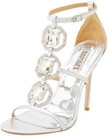 Badgley Mischka Women's Harvey II Dress Sandal Pretty Shoes, Beautiful Shoes, Crazy Shoes, Me Too Shoes, Diamond Shoes, Punk Earrings, Badgley Mischka Shoes, Silver Sandals, Silver Shoes
