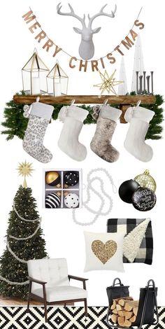 Black and gold at Christmas