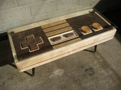 California-based designer Charles Lushear has created a coffee table that works as a fully functional Nintendo controller.
