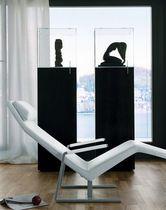 Contemporary display case / floor-mounted