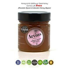 Raw Honeycomb Wildflower Greek Honey Artius - Great Taste Award - 280g >>> Details can be found by clicking at the image at baking desserts recipes board