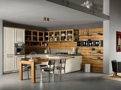 Cucina in frassino con isola LIVING CASUAL Collezione Living by L ...