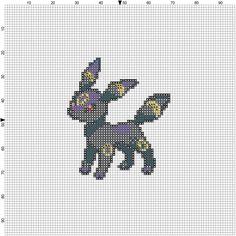 Umbreon Pokemon Cross Stitch Pattern by Needlepricks on Etsy, $3.50