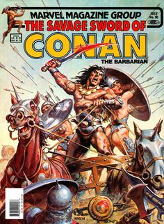 """travisellisor: """"the cover to The Savage Sword Of Conan (1974) #90 by Earl Norem """""""