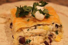 Verde Chicken Mexican Lasagna - Winner of LDS Living's Best Casserole Contest.