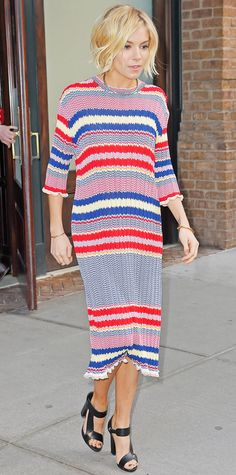 Look of the Day - January 17, 2015 - Sienna Miller in Celine from #InStyle