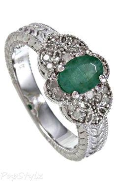 1.25ct Emerald Diamond Ring