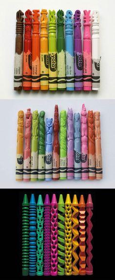 Secondaire 2 sculpter des objets réels dans des crayons de cire