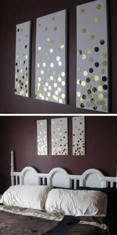 Creative DIY Wall Art Ideas for Your Home diy home decor Easy diy home decor ideas living room - Diy Decorating Room Wall Decor, Bedroom Wall, Diy Bedroom, Bedroom Ideas, Trendy Bedroom, Diy Crafts For Bedroom, Diy Living Room Decor, Budget Bedroom, Bedroom Images
