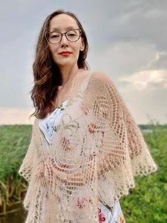 Lace knitted shawl Elegant wedding wrap Sand mohair beaded | Etsy Knitted Shawls, Crochet Shawl, Wedding Shawl, Wedding Wraps, Lace Knitting, Bridal Accessories, Elegant Wedding, Bridesmaid Gifts, Winter