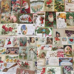 Huge Lot of 350+ Holidays Greetings Postcards DAMAGED- DECOUPAGE  SCRAP BOOKING! #GreetingsHolidays