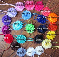YOU PICK 5 Baby Headband Shabby Chic by SummerChicBoutique on Etsy, $12.00