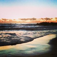 Sunrise on the beach at Currumbin on the Gold Coast, Queensland in Australia on Mallory on Travel adventure, adventure travel, photography m...