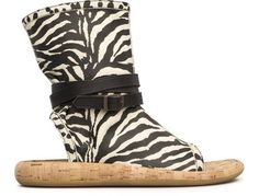 For Spring Summer 2013 Camper presents Willhelm, a seasonal black and white animal print boot sandal made of nubuck and footbed lined with cork.