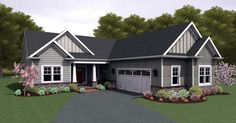 Ranch   House Plan 54106 Like the L shape and exterior...that's it
