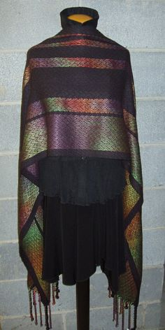 Custom Made Handwoven hand painted Shawl by Terry's Art