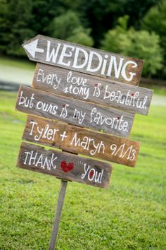 Custom Wedding Sign  | All My Goodness - Etsy | Photography By Soozie | TheKnot.com