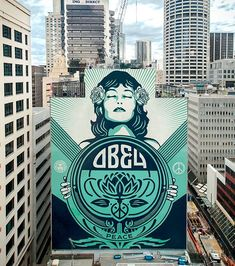 Street Art Today selects the best murals since April 2017 and listed the Best Murals of 2017 : June / OBEY – Peace and love! 'Peace Waratah' was made by Shepard Fairey aka Obey in Sydney, Australia. Photo by Jon Furlong. Murals Street Art, Street Art Graffiti, Mural Art, Banksy, Shepard Fairey Art, Art Du Monde, Best Street Art, Street Artists, New Wall