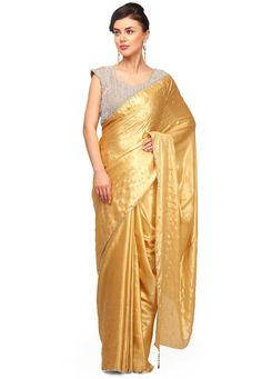Golden Saree, Sari, Fashion, Saree, Moda, Fashion Styles, Fashion Illustrations, Saris, Sari Dress