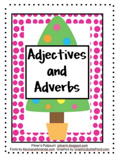 Pitner's Potpourri: Adverbs and Adjectives Game -- Freebie