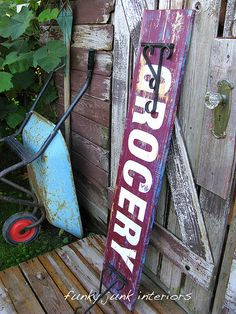 pallet vintage sign how to