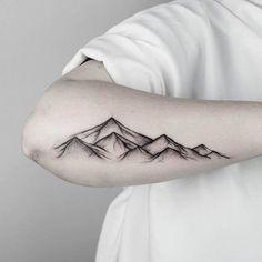 Dotwork Mountain Tattoo by malwina8