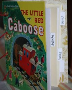 Tutorial: Upcycle a Little Golden book into a recipe book! Couldn't be cuter.