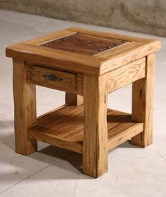 Delicia End Table Western Tail And Tables This With A Mission Style Feel Is Created In Quality Wild Grain Hardwoods