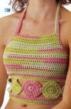 Esquemas Para Tejer Tops a Crochet y 2 Agujas