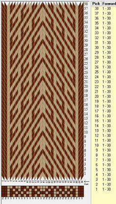 30 tarjetas, 2 colores // sed_462 diseñado en GTT༺❁ Inkle Weaving, Inkle Loom, Card Weaving, Weaving Art, Basket Weaving, Tablet Weaving Patterns, Loom Patterns, Art Tablet, Finger Weaving