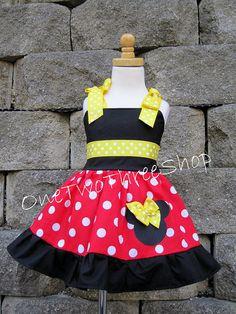 Custom Boutique Clothing Minnie Mouse Jumper Dress by amacim. $39.99, via Etsy.