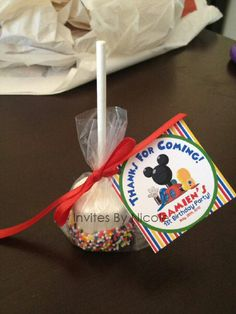 Photo 1 of Mickey Mouse Clubhouse / Birthday & Mouse Extravaganza & Mickey Mouse Theme Party, Mickey Mouse Clubhouse Birthday Party, Mickey Mouse 1st Birthday, Mickey Y Minnie, Birthday Fun, Birthday Ideas, Birthday Table, Dipped Marshmallows, Marshmallow Pops