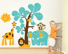 00306 Sticker Wall Stickers Wall Stickers kids wallpaper Walls Baby Nursery Room Savannah 2