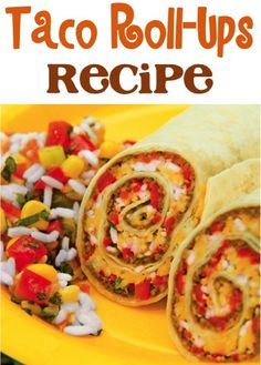 Taco Roll-Ups Recipe! {these will become a family favorite that even the kiddos will love!} #tacos #burritos #recipes