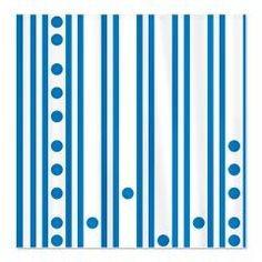 Modern Blue Stripes and Dots Shower Curtain> Polka Dotted Shower Curtains> Shower Curtains