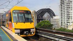 A #Hornsby bound #train approaches #Milson's Point #railway #station after having just crossed the #harbour #bridge. #NSW #Australia #IgersSydney #travel #tourism #tourist #adventure #explore #seetheworld #transport #yellow #railfan