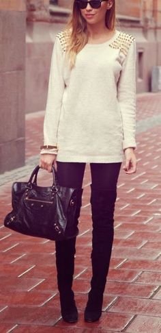 #fall #fashion / sequin knit