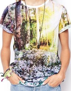 ASOS T-Shirt with Forest Scene Print